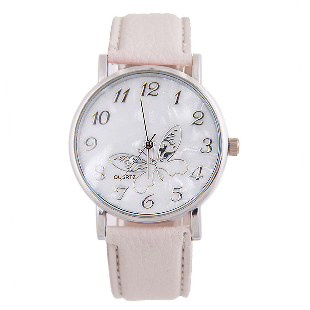 Best Selling Luxury Embossed Band Butterfly Ladies Watches Leather Loop Woman Watch Exquisite Gift For Girls Dames Horloges *A