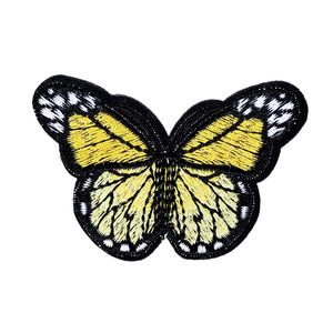 Image 5 - 10個刺繍蝶縫う綿パッチバッジ刺繍織物アップリケdiy服アクセサリーバッジステッカー