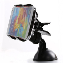 360 Flexible Car Auto Windshield Dual Clip Mount Phone Holder Stand Bracket for iPhone6S Pplus Samsung Galaxy S7 GPS