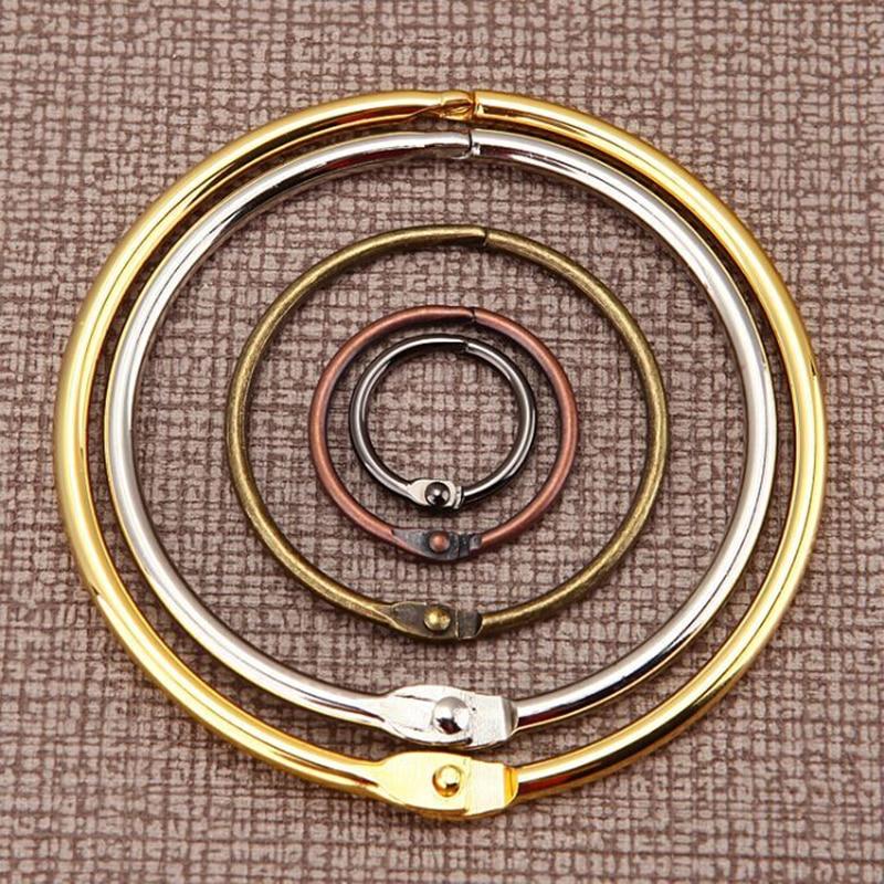 Silver Gold Bronze Black Loose-leaf Binder Ring DIY Spiral Notebook Rings Hinged Keychain Craft Photo Album Scrapbook Split