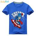 Jiuhehall Fashion Superhero Boys T-Shirts 2017 Summer Kids O-Neck Costume Short Sleeve Kids Cartoon Tee Tops ACM020