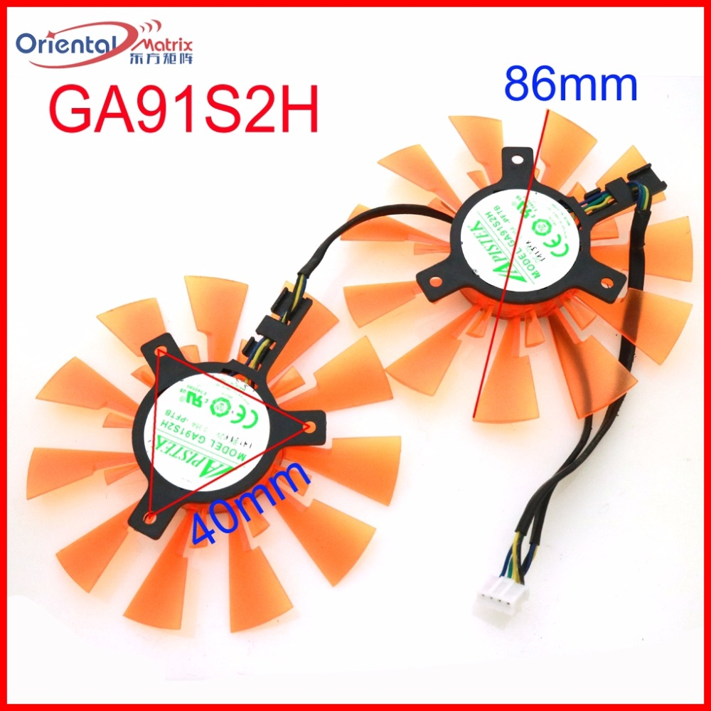 Free Shipping 2pcs/lot GA91S2H 87mm 12V 4Wire 4Pin For ZOTAC GTX970-4GD5 GTX750TI 760i Graphics Card Cooling Fan ботинки meindl meindl ohio 2 gtx® женские