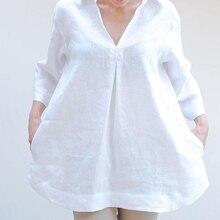 Plus Size Loose V-Neck Maternity Blouse
