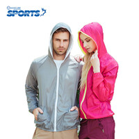 Hot Sale Summer Sport Jacket Ultrathin Sunscreen Clothing Solid Color Long Sleeve Sun Protection Lovers Coat