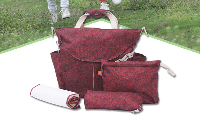 Promoción 4 UNIDS/SET nuevas mochilas de gran capacidad de bolsa de maternidad del pañal del bebé bolsa de mamá bolsa de cuidado del bebé para cochecito organizador