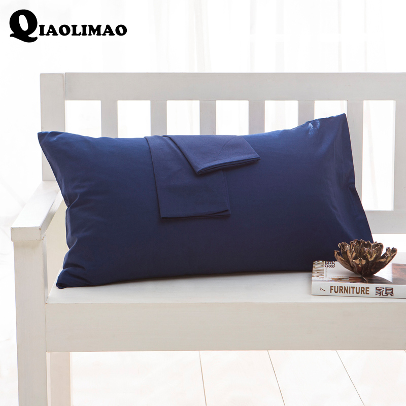 100% Cotton Solid Color Pillowcase 40x60 51x66 50x70 50x75 51x76 50x90 Size Pillow Case Rectangle Soft Decorative Pillow Covers