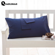 100% Cotton Solid Color Pillowcase 40x60 51x66 50x70 50x75 51x76 50x90 Size Pillow Case Rectangle Soft Decorative Pillow Covers(China)