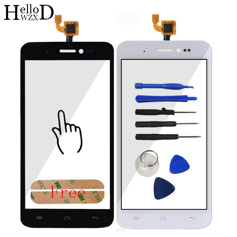 5.0'' Smart High Lens Sensor Touch Panel For Explay Rio Play Touch Screen Front Glass Digitizer Capactive Repair Free Adhesive