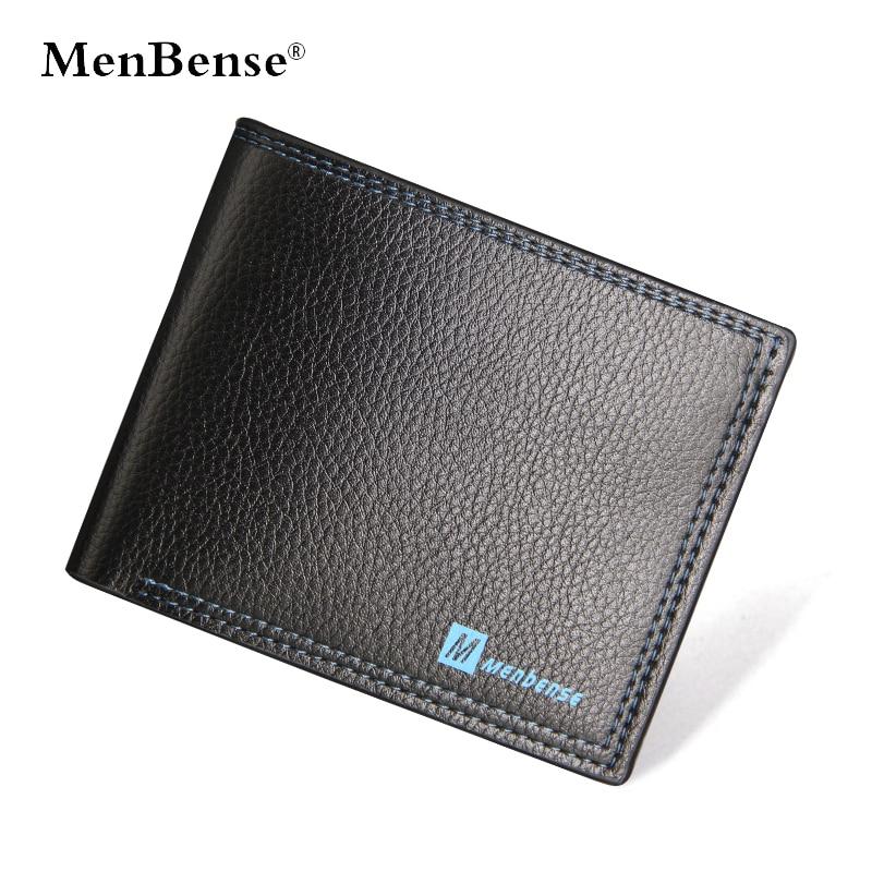 MenBense Mens Wallet Luxury Leather Wallets Slim Purses Cartera Hombre No Zipper Fashion Solid Purse Smart Card Holder Coin Bag wallet