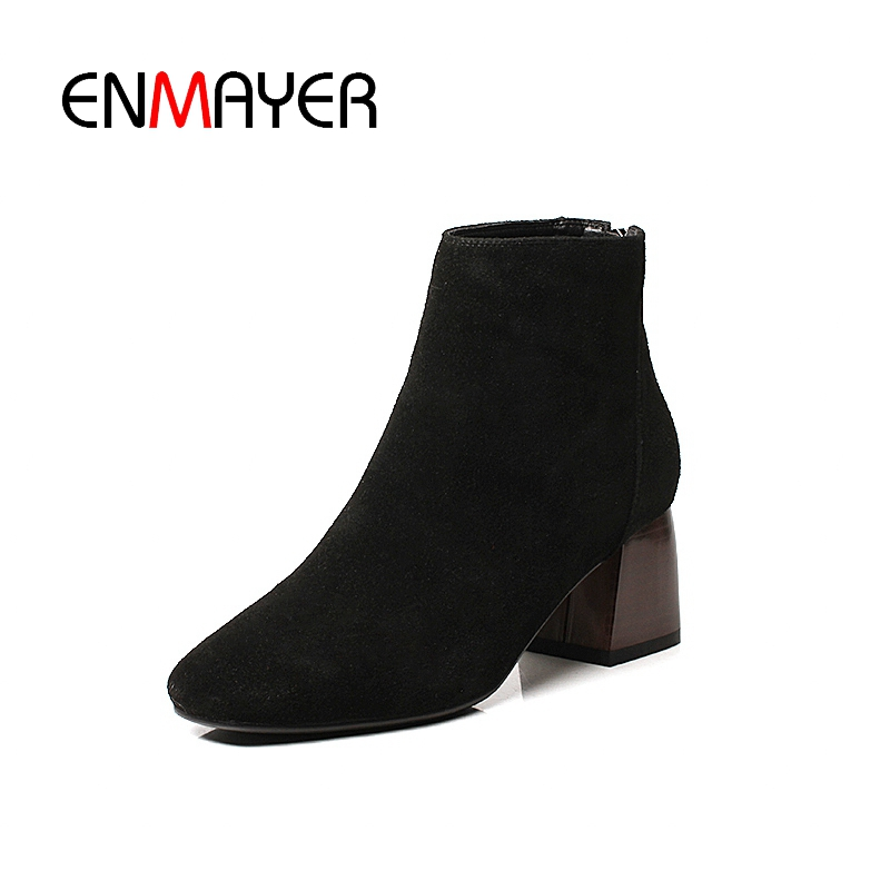 Causal Invierno Cr1381 Zapatos Mujeres Mujer Black pink Altos Tacones Tacón khaki Punta 39 Tobillo Enmayer De Grueso Tamaño 34 Botas OaqXX1