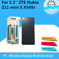 LCD Screen Display Touch Panel Digitizer With Frame For 5 2 ZTE Nubia Z11 Mini S