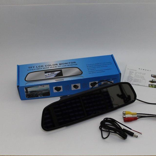 Para Kia Rio Cinco/RX-V/Stylus/SF Espelho Retrovisor Do Carro Exibição na Tela do monitor/HD TFT LCD PAL NTSC TV a Cores do Sistema de Segurança