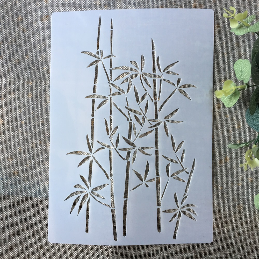 A4 Bamboo DIY Layering Stencils Painting Scrapbook Coloring Embossing Album Decorative Paper Card Template