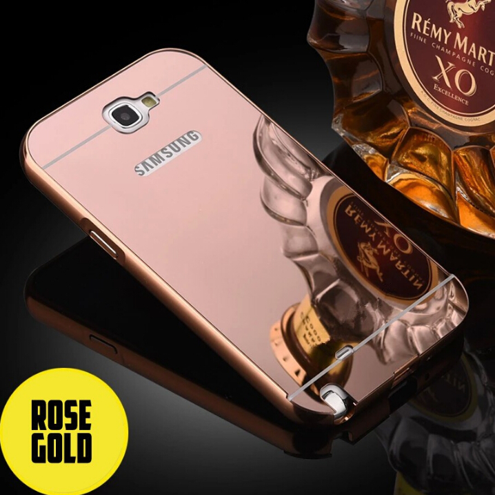 new style c151c 4502e US $2.99 |For Samsung Galaxy Note 2 II Fashion Luxury Aluminum Frame + PC  Rose Gold Mirror Back Cover For Samsung Note 2 N7100 Phone Case-in ...