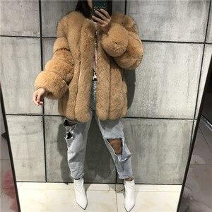 Image 4 - Futro damskie płaszcz z prawdziwego futra futro naturalne