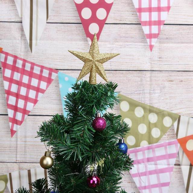 Christmas Tree Top Stars Pine Garland Sparkle Ornament Christmas Decoration for home Christmas Tree Ornament Topper Party Decor 17
