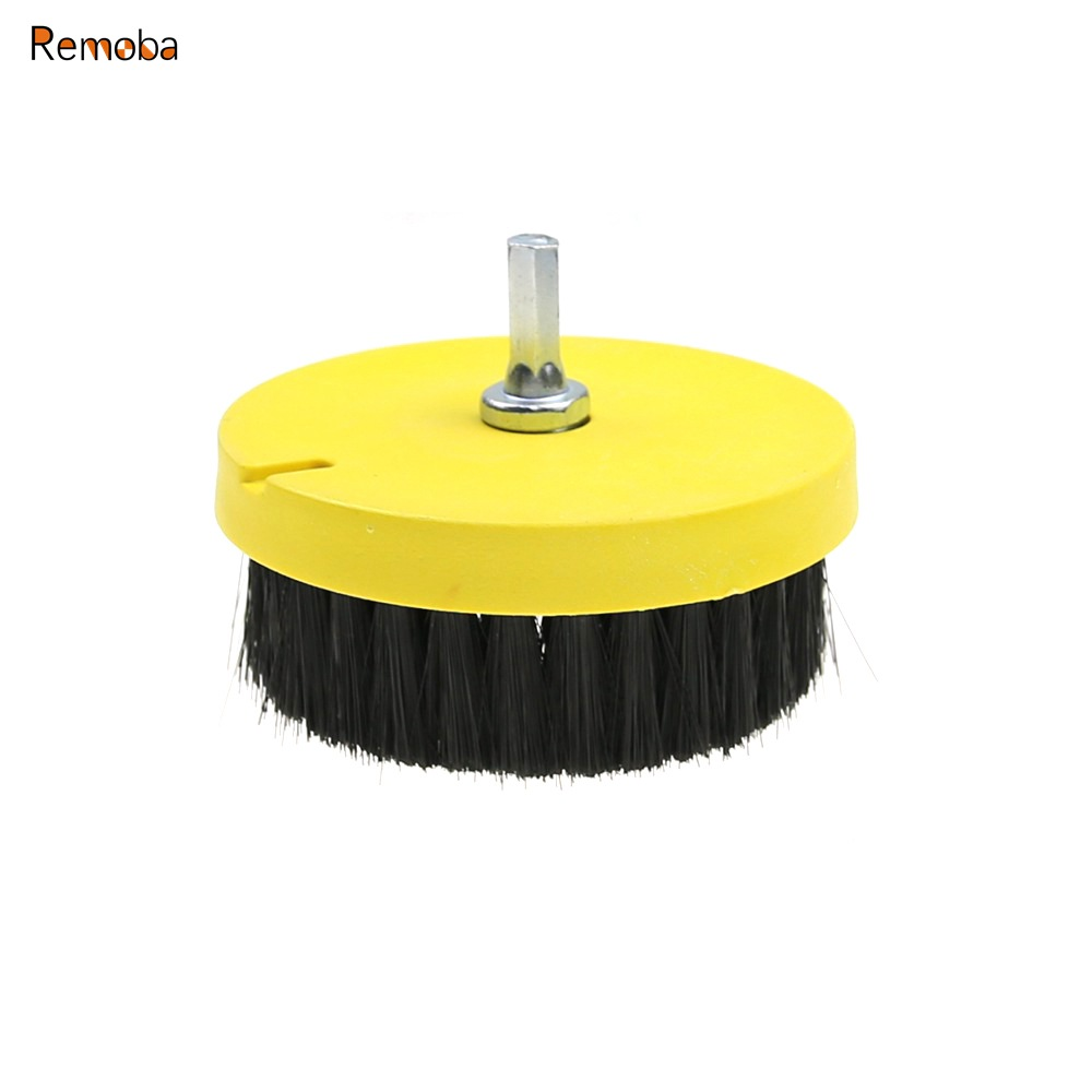 1 Piece Dia. 110mm Drill Clean Brush For Sofa Carpet Car Interiors Floor Cleaning