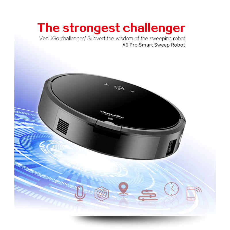 Smart Plan type Robotic Vacuum Cleaner A6 Dry and Wet ROBOT for Home with Wifi