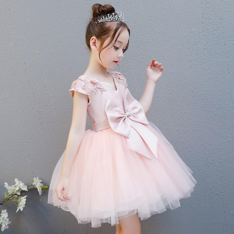 Wysokiej jakości dla dzieci sukienka różowy kwiat dziewczyna dziewczyna taniec fortepian kostiumy puszyste księżniczka sukienka w Suknie od Matka i dzieci na AliExpress - 11.11_Double 11Singles' Day 1
