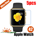 For APPLE WATCH 42MM Ultra Clear LCD Screen Protector Guard Cover Protective Film (5pcs Film + 5pcs Cloth)