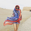 Size 200*100cm, 2016 new systel geometric Silk scarf Sunscreen Beach Long Scarf Shawl Wrap shawls and scarves Skyour