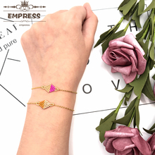 FAIRYWOO Geometric Simple Bracelet For Lady Gifts Miyuki Bead Jewelry Charm Stainless Steel Chain Dangle