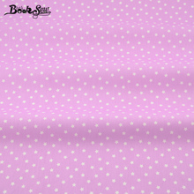 2017  Home Textile Material Bed Sheet Qulting Tale Shine Little Stars Designs 100% Cotton Fabric Light Purple Twill Fat Quarter