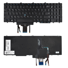 New Keyboard For Dell Latitude E5550 E5570 Laptops 383D7 Backlit&Pointer&Buttons ноутбук dell latitude e5550 5550 7836