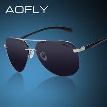 AOFLY Стильные мужские солнцезащитные очки, в новом стильном дизайне капельки, в  металлической оправе с поляризованными линзами Polaroid, 100% защита от УФ лучей и антибликов(China (Mainland))