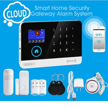 Burgular Smart Home Security Alarm System Wireless Wifi GSM/3G Anti Theft Alarm System With Remote Controller & Smoke Detectors