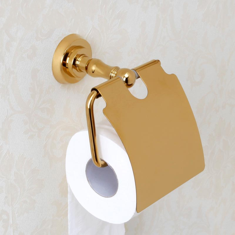 New Wall Mounted luxury Solid Brass gold Toilet Paper Holder golden Tissue  Bar Bathroom accessories Compare Prices on Luxury Toilet Paper Holder  Online Shopping Buy  . 24k Gold Toilet Paper. Home Design Ideas