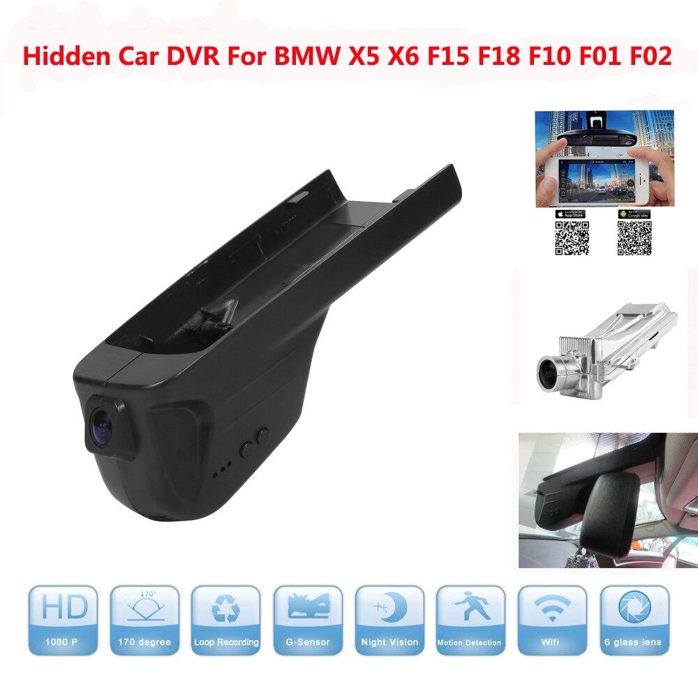 Hidden Car DVR for BMW X5 X6 F15 F18 F10 F01 F02 Night Vision Camera 170 Angle 30Fps 1080P Car DVR Recorder With G-sensor