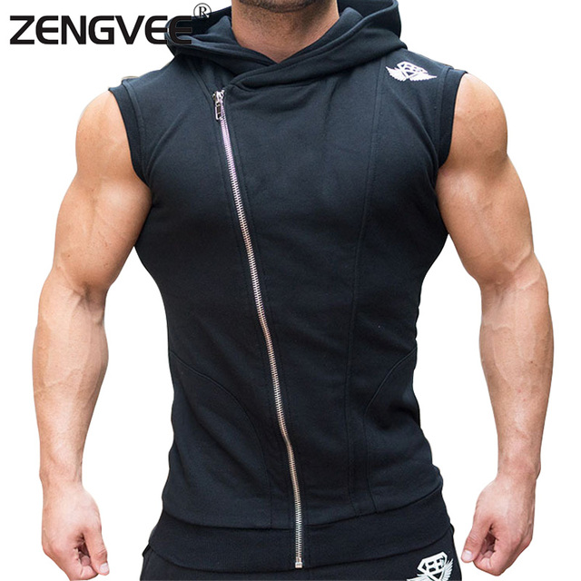 2017 Mens Jackets SportWear Sleeveless For Male Sweatshirt Muscle Tracksuit High Quality
