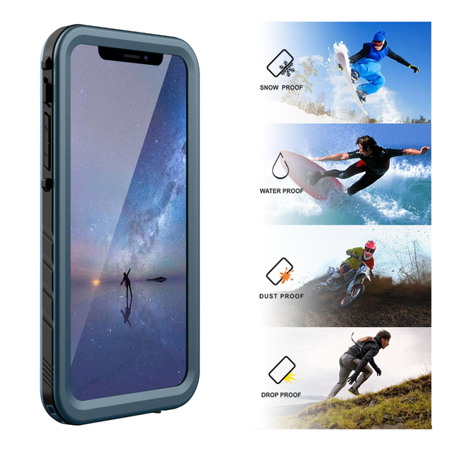 huge discount 5a3f6 95909 US $12.59 37% OFF|For iPhone XR Waterproof Case Shockproof Full Body Rugged  Cover Case with Built in Screen Protector for Apple iPhone XR 6.1 Inch-in  ...