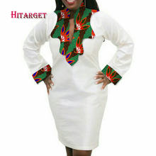 Hitarget 2017 African Ladies Short Sexy Dresses for Women Traditional Print Mini Autumn Long Sleeve Dress Clothing WY2099