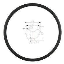 29er 27.5er 650B MTB XC 28mm hookless פחמן שפת אסימטרית נימוק מכריע ללא פנימית 25mm עמוק א. ד. 3K מט מבריק 24 28 32 חורים גלגל