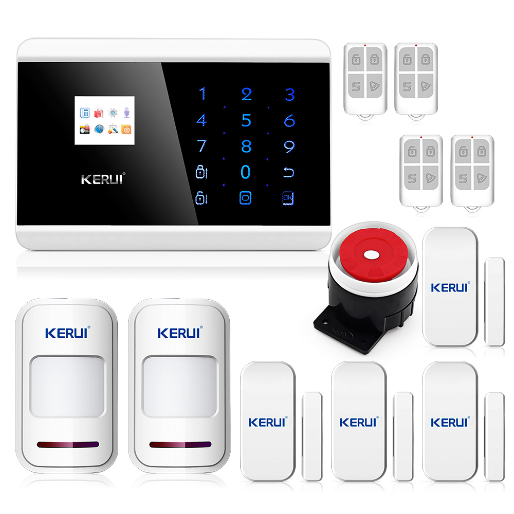 English/Russian/French/Spainish Voice GSM Alarm System for Home Sensor PSTN Alarm with 99 Wireless Guard Zone 2 Wired Guard Zone