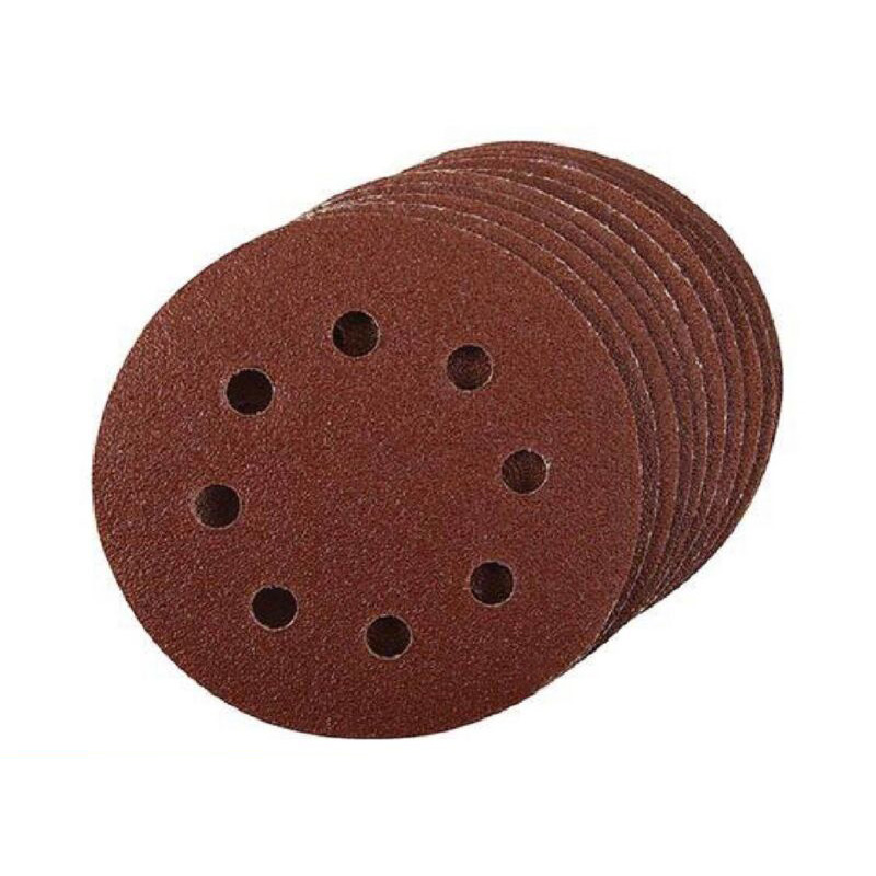 Grinding Polishing Alumina Cleaning 20pcs Sanding Discs 60 Grit 8 Hole 125mm Punched Woodwork Paint Convenient