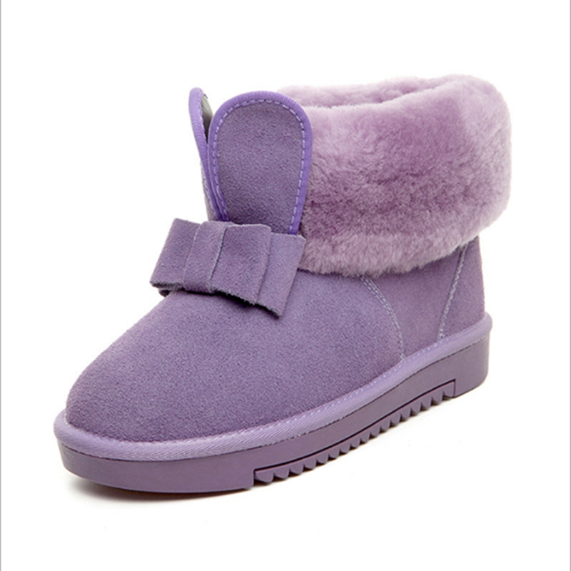 Hot Sale Top Quality Women Snow Boots Warm Winter Boots Genuine Sheepskin Leather 100% Natural Fur Women Ankle Boots top quality fashion women ankle snow boots genuine sheepskin leather boots 100% natural fur wool warm winter boots women s boots
