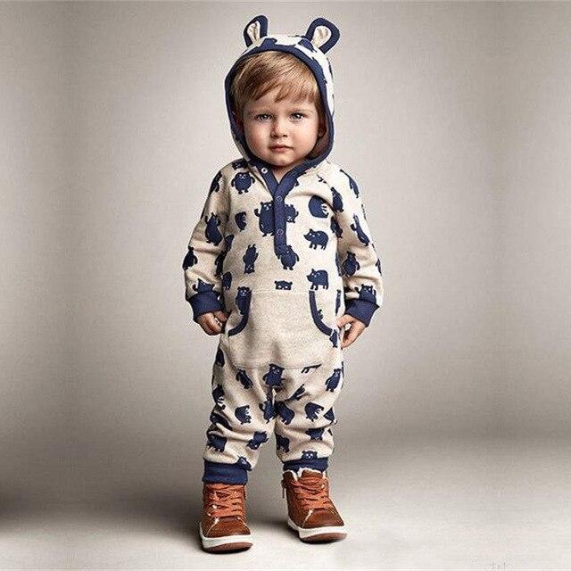 4715bebcb5 Babyspielanzug Baumwolle Bär Bebe Kostüm Neugeborenen Baby Mädchen Kleidung  Kleinkind Jungen Overall Baby Kinder Trainingsanzug Säuglings