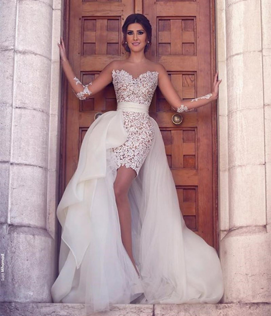 High Low Ivory Wedding Dress