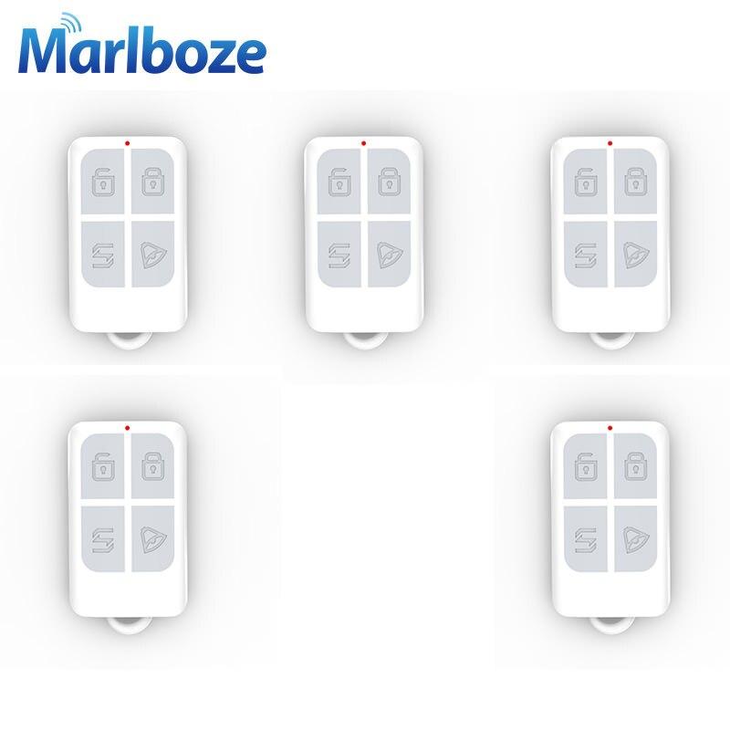 bilder für 5 teile/los Hohe Qualität Drahtlose 433 MHz Fernbedienung mit Batterie Arm Entwaffnen Keychain für Einbrecher Sicherheitshauptwarnungssystem