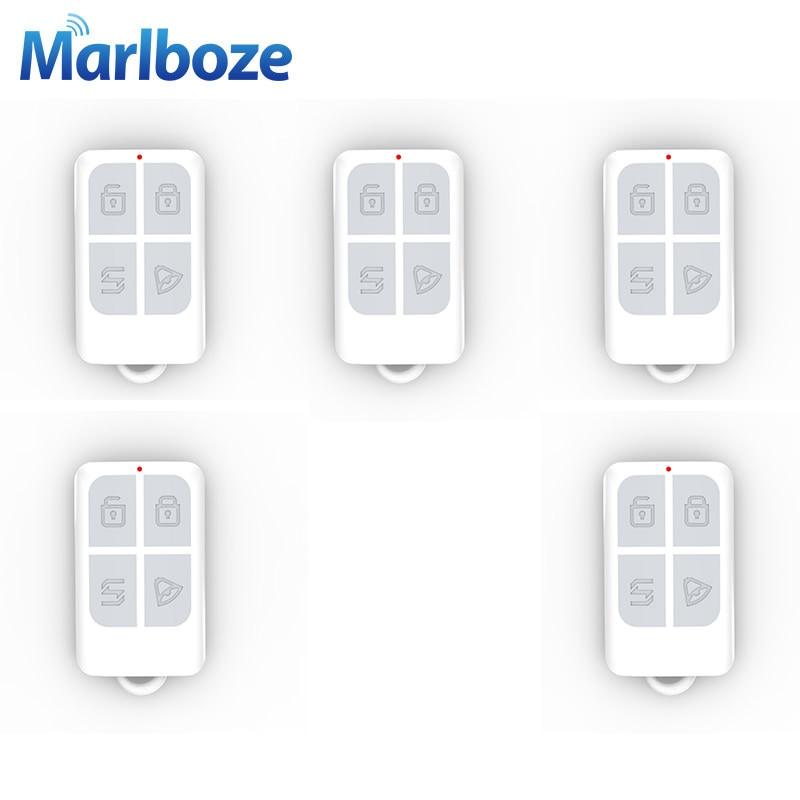 imágenes para 5 unids/lote Alta Calidad Brazo Desarmado Inalámbrico 433 MHz de Control Remoto con Batería Llavero para Sistema de Alarma de Seguridad Antirrobo