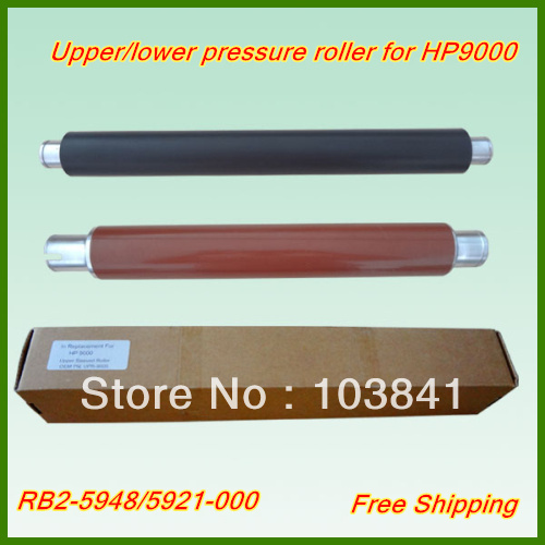 1pc Upper Roller RB2-5948 +1pc Lower Sleeved Roller RB2-5921 Fuser Rressure Roller for HP9000 9050 9040 Printer