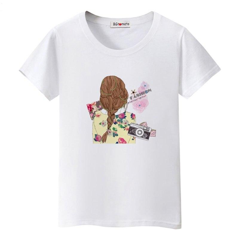 2021 beautiful girl tshirt korean style graphic t shirts kawaii women shirts oversized t shirt casual tops brand haut femme