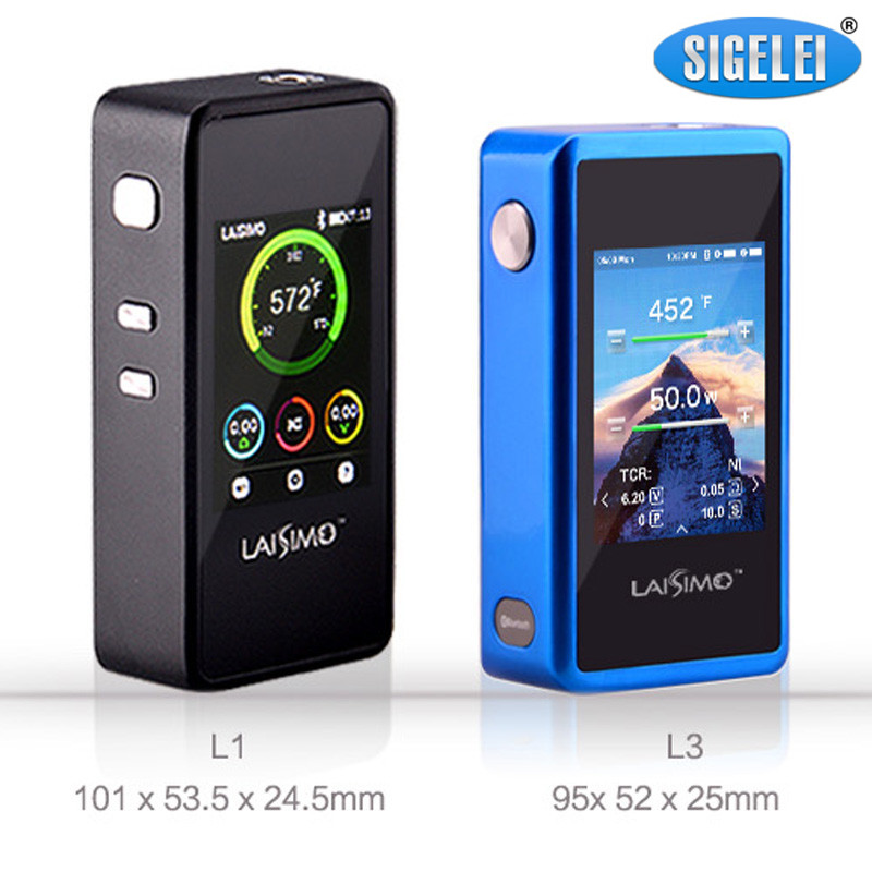 Original Sigelei Laisimo L3 200W Mod Vape Mod Kit Electronic Cigarette Box Mod Temperature Control newest smy sdna200 mechanical box mod oled display temperature control 200w box mod vape mod vw vt mode