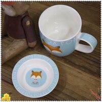 1 Unidades Ocio Té de La Tarde Taza de Café Linda de Dibujos Animados de Animales De Cerámica Amantes de la taza Taza de Regalo Taza Oficina En Casa Taza de Té de Porcelana 5ZDZ332
