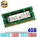 Ноутбук/Ноутбук Модуль Памяти Ram Memoria SODIMM Для DDR3L 1600 1333 МГц 4 ГБ/PC3-12800S PC3-10600S Non ECC 204pin 1.35 V