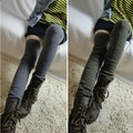 Famous Brand Socks Extended Long Thigh High Leg Warmers Warm Winter Footmuff Slouchy Socks Knitted Fashion Leg Sleeves Lw20