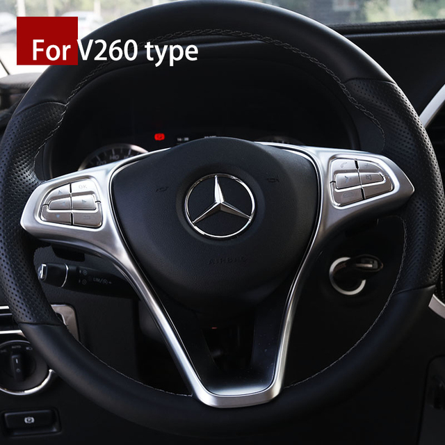 Lsrtw2017 Abs Car Steering Wheel Trims For Mercedes Benz Vito 2014